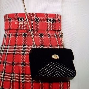 Coach Mini Black Velvet Parker 18 Chain Bag